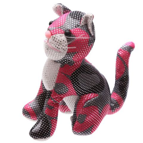 Cat Sand Animal Collectable Weighted Soft Toy Puckator (1 Supplied)